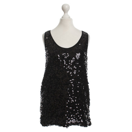 See by Chloé Sequin top in black