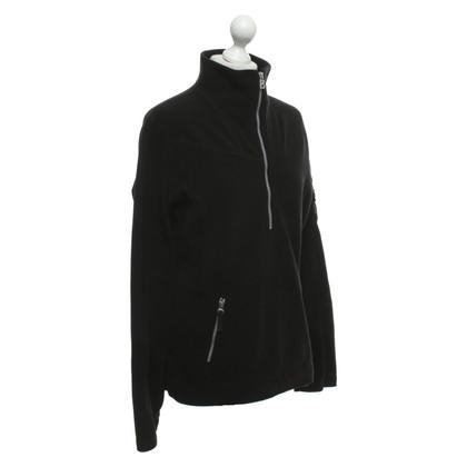 Bogner Fleece-Pullover in Schwarz