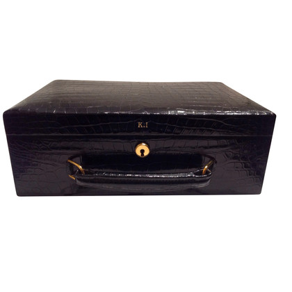Hermès Crocodile leather jewelry case