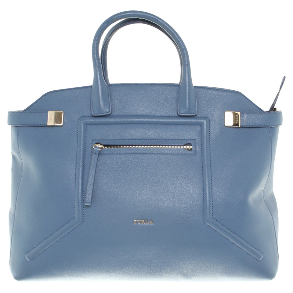 furla handtasche in hellblau second hand furla. Black Bedroom Furniture Sets. Home Design Ideas