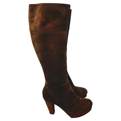 Fendi Platform boots suede