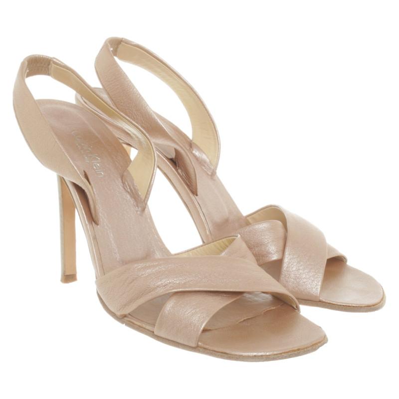 calvin klein pink sandals