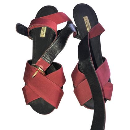 Dolce & Gabbana Sandali in raso di cotone
