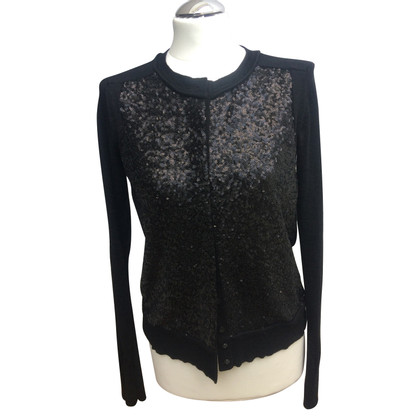 Diane von Furstenberg Cardigan with sequin trim