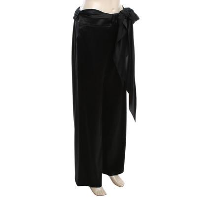 Valentino Silk trousers in black