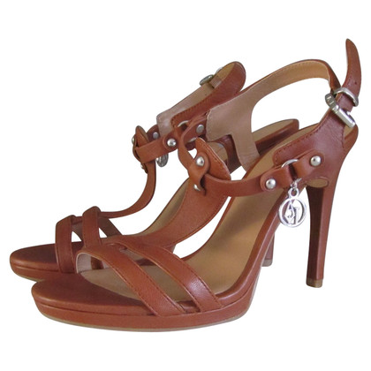 Armani Cognac-colored leather sandals