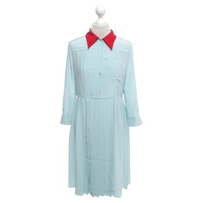 Miu Miu Blouse dress in light turquoise