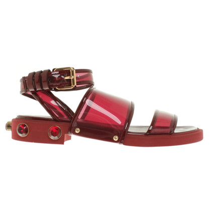 Givenchy Sandals in dark red