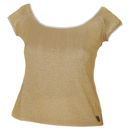 MCM top in gold