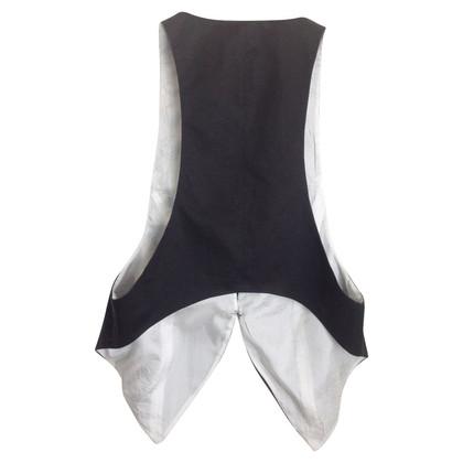 Acne Black linen vest
