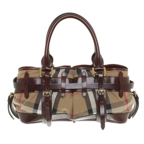 Burberry Handtasche mit Nova-Check Muster Bunt / Muster Nicekicks Günstigen Preis 8JFV22m