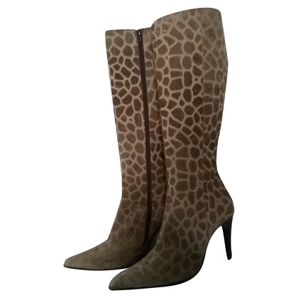 Casadei Boots with giraffe pattern