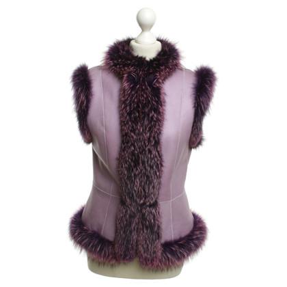 Escada gilet di pelliccia di colore viola