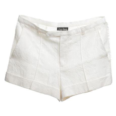 Jean Paul Gaultier Cremefarbene Shorts Creme