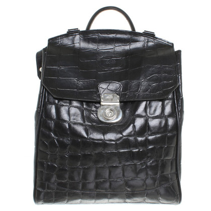 Mulberry Leather backpack in zwart