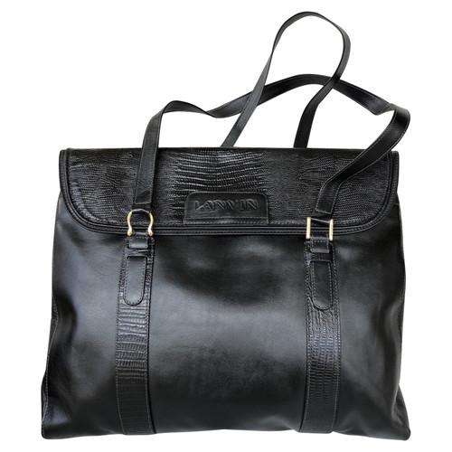 7c459ac08 Lanvin Tote bag Leather in Black - Second Hand Lanvin Tote bag ...
