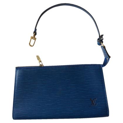 Louis Vuitton Blue Leather epi pouch
