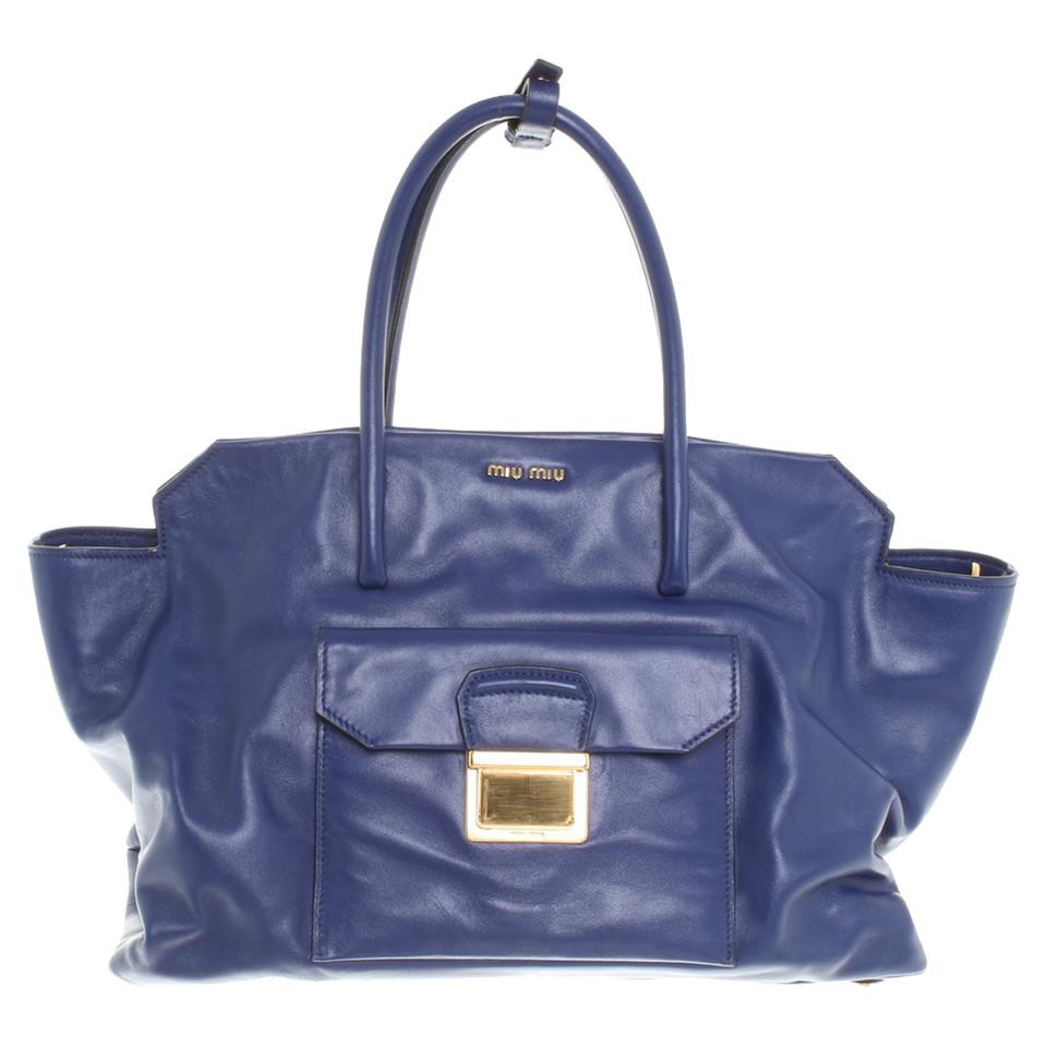 Miu Handbag In Blue