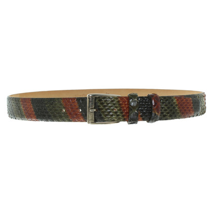 Etro Python leather belt