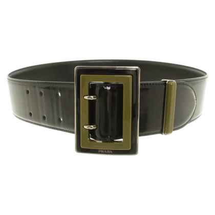 Prada Patent leather belt in black