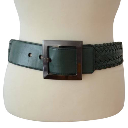 Jil Sander Braided green belt