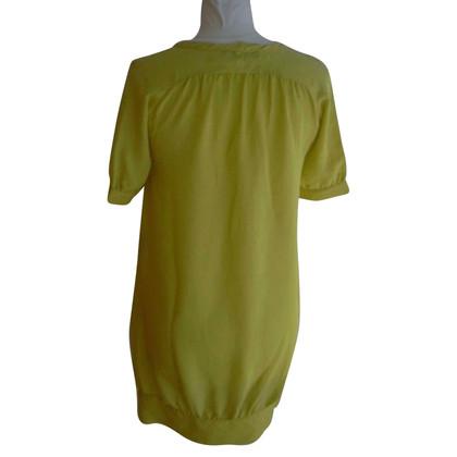 Maje Geel zijden jurk
