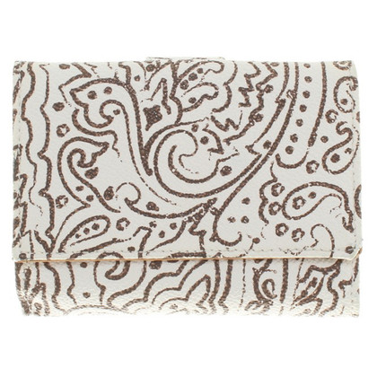 Etro Wallet in beige / white