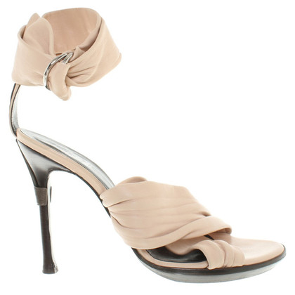 Versace Platform Sandals in Nude