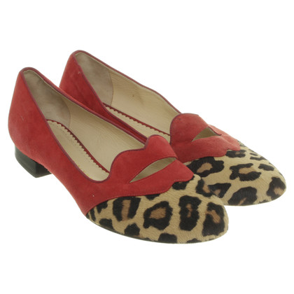 Charlotte Olympia Slippers with Leopard print