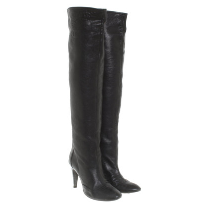 Just Cavalli Leather boots in black