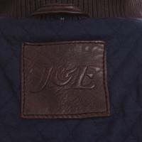 Jagger & Evans Veste en cuir avec utilisation de tricot