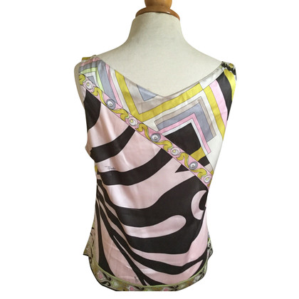 Emilio Pucci Silk top with pattern