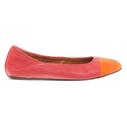 Lanvin Ballerinas in red/orange