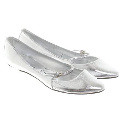 Sigerson Morrison Ballerina's in metallic look