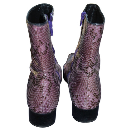 Prada Python leather boots