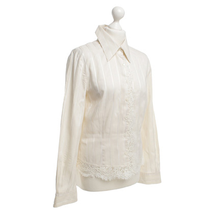 Marc Cain Details of silk and lace blouse