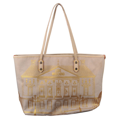 Moschino Borsa shopper crema