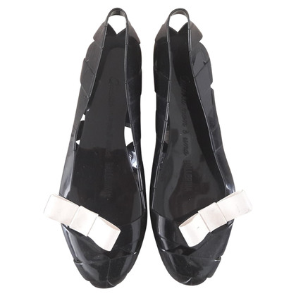 Moschino Black ballerinas with bow