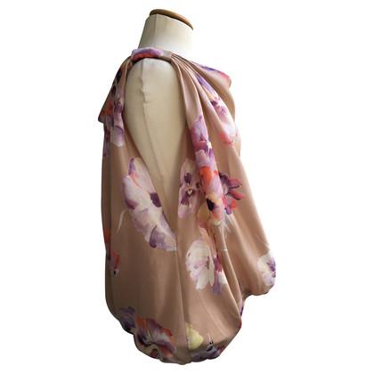 Blumarine Silk top with violet