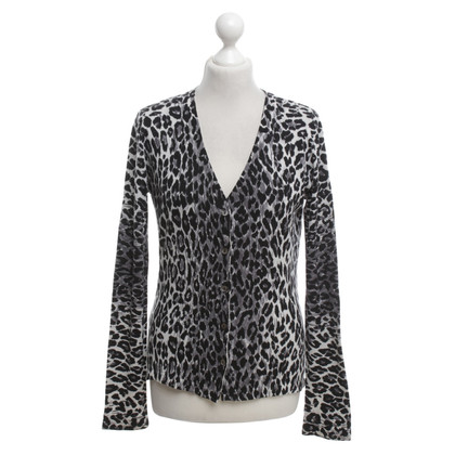 Bruno Manetti Cardigan with leopard pattern
