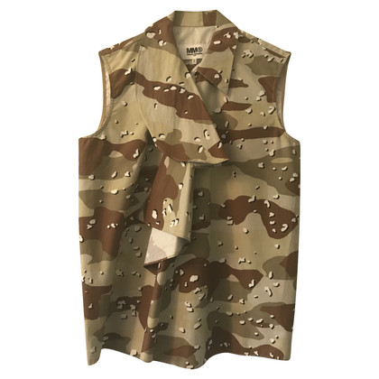 Maison Martin Margiela Sleeveless blouse with camouflage pattern