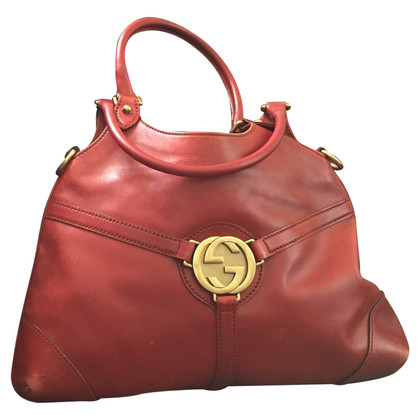 Gucci Ledertasche in Rot
