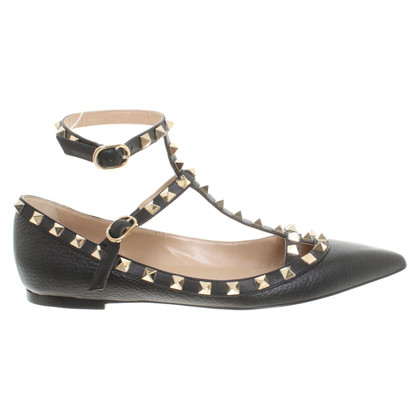 Valentino Rockstud ballerinas in black