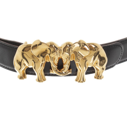 Hermès Gürtel mit goldfarbener Schließe