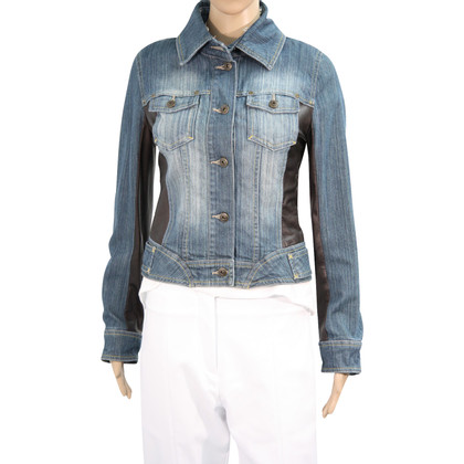 Karen Millen Jeans jacket with leather
