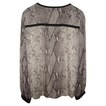 Diane von Furstenberg Luipaard print zijden blouse
