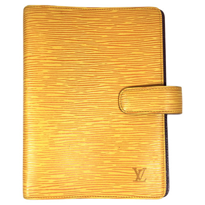 "Louis Vuitton ""Agenda Fonctionnel MM Epi Leder"" in Gelb"
