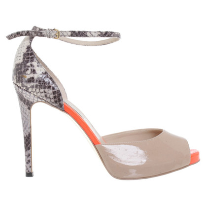 Stella McCartney pumps with reptile embossing