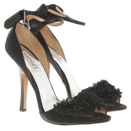 badgley mischka sandaletten in schwarz second hand. Black Bedroom Furniture Sets. Home Design Ideas