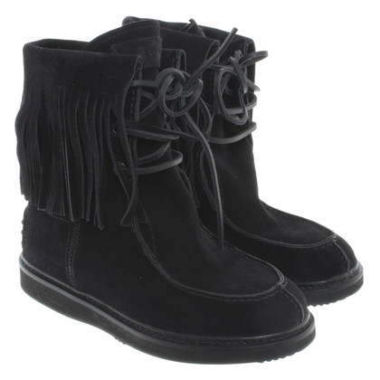 Car Shoe Black leather boot